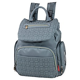 Fisher-Price® Hayden Quilted Backpack Diaper Bag in Grey
