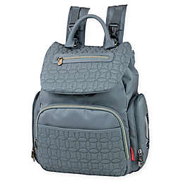 Fisher-Price® Hayden Quilted Backpack Diaper Bag in Grey