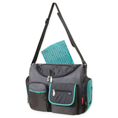 Fisher Price 174 Dakota Fastfinder Duffel Diaper Bag In Aqua