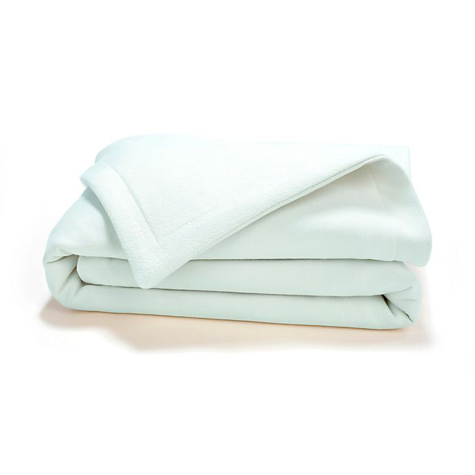 Alternate image 1 for Live Good Organic Supima Cotton Baby Blanket in Mint