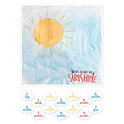 "Lulujo Baby ""You're My Sunshine"" Milestone Blanket"