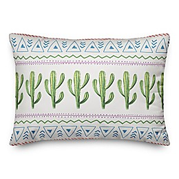 Designs Direct Aztec Cactus Throw Pillow in Green