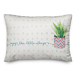 Designs Direct Enjoy the Little Things Throw Pillow in Green