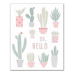 """Designs Direct """"Oh, Hello Cacti"""" Canvas Wall Art"""