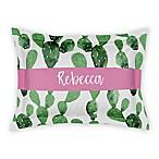 Designs Direct Watercolor Cactus Pillow Sham in Green