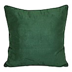 Suede 20-Inch Square Throw Pillow in Emerald