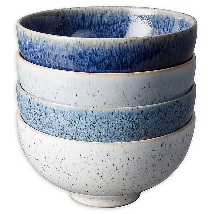 Alternate image 1 for Denby Studio Blue Rice Bowls in Pebble (Set of 4)
