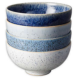 Denby Studio Blue Rice Bowls in Pebble (Set of 4)