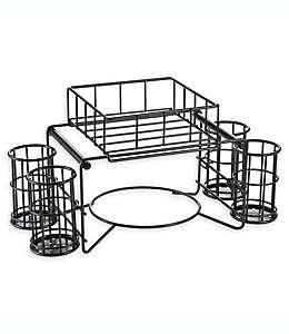 B. Smith® Organizador de platos y cubiertos para bufet, 6 piezas