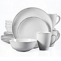 Urban Loft® Liam 16-Piece Dinnerware Set in White/Grey Speckle