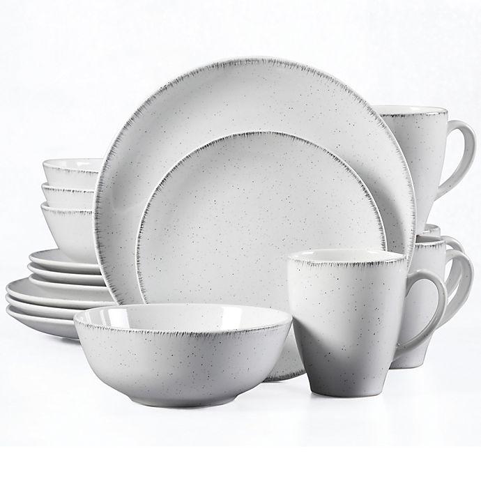Alternate image 1 for Urban Loft® Liam 16-Piece Dinnerware Set in White/Grey Speckle