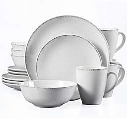 Urban Loft® Liam 16-Piece Dinnerware Set in White/Grey Speckle
