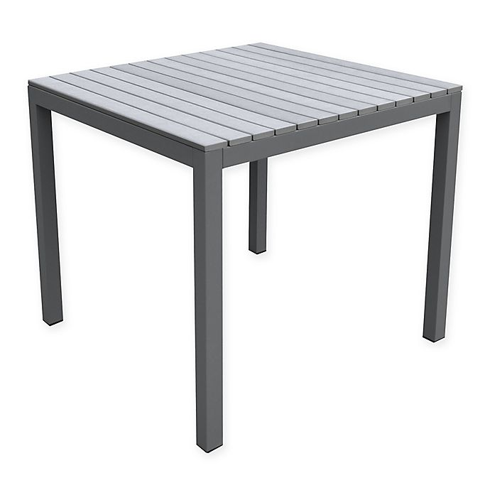 Alternate image 1 for Armen Living Bistro Outdoor Patio Dining Table in Grey