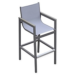 Armen Living® Marina Patio Barstool in Grey