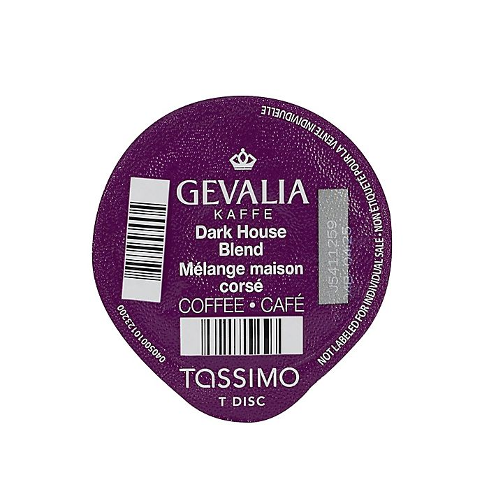Alternate image 1 for Gevalia 60-Count Dark House Blend Coffee T DISCs for Tassimo™ Beverage System