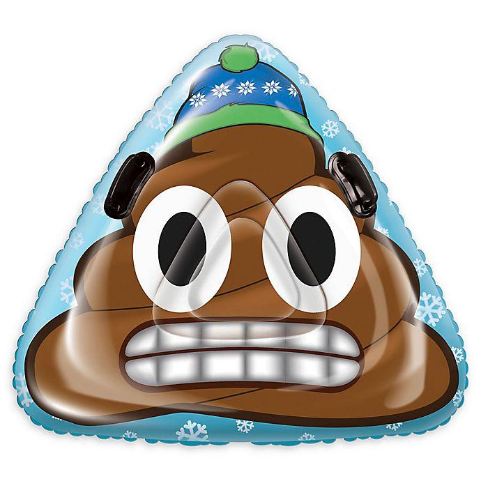 Alternate image 1 for Pipeline Sno Speed Dump Poop Emoji Inflatable Rocket Snow Tube in Blue/Brown