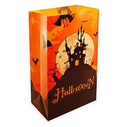 Halloween House Plastic Luminaria Bags (Set of 24)