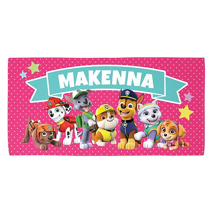 Alternate image 1 for Paw Patrol™ Patrol Pawfect Pals Beach Towel in Pink