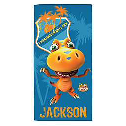 Dinosaur Train™ Tyrannosaurus Rex Beach Towel in Blue