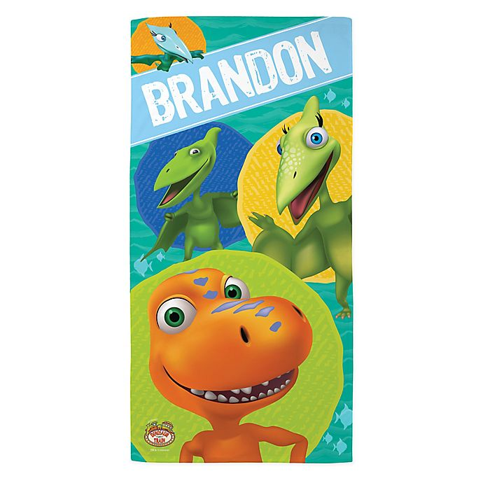 Alternate image 1 for Dinosaur Train™ and Friends Beach Towel in Blue