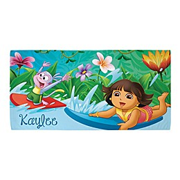 Dora the Explorer™ Surfing Adventure Beach Towel in Blue