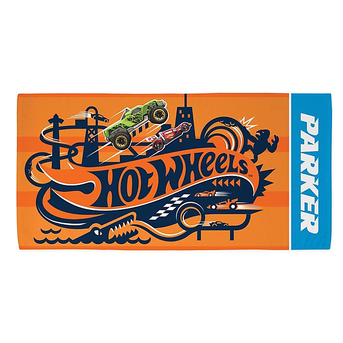 Alternate image 1 for Hot Wheels™ Beach Towel in Orange