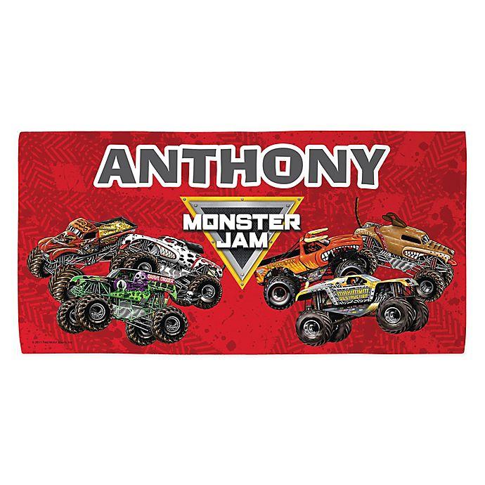 Alternate image 1 for Monster Jam® Madness Beach Towel