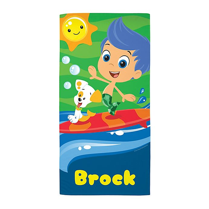 Alternate image 1 for Bubble Guppies Surf Beach Towel
