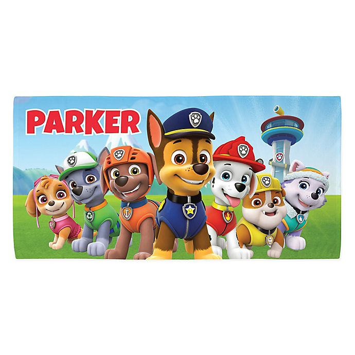 Alternate image 1 for PAW Patrol Action Beach Towel