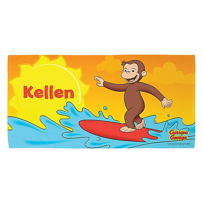 Alternate image 1 for Curious George Surfing Beach Towel