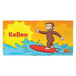 Curious George Surfing Beach Towel