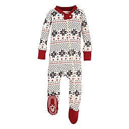 burts bees baby snowflake holiday footed pajama