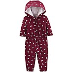 carter's® Size 9M Cat Hooded Romper in Burgundy