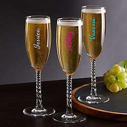 Trendy Vinyl Signature Champagne Flute
