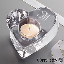 Orrefors© Initial Crystal Heart Votive Holder