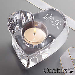 Orrefors © Couples Crystal Heart  Votive Holder