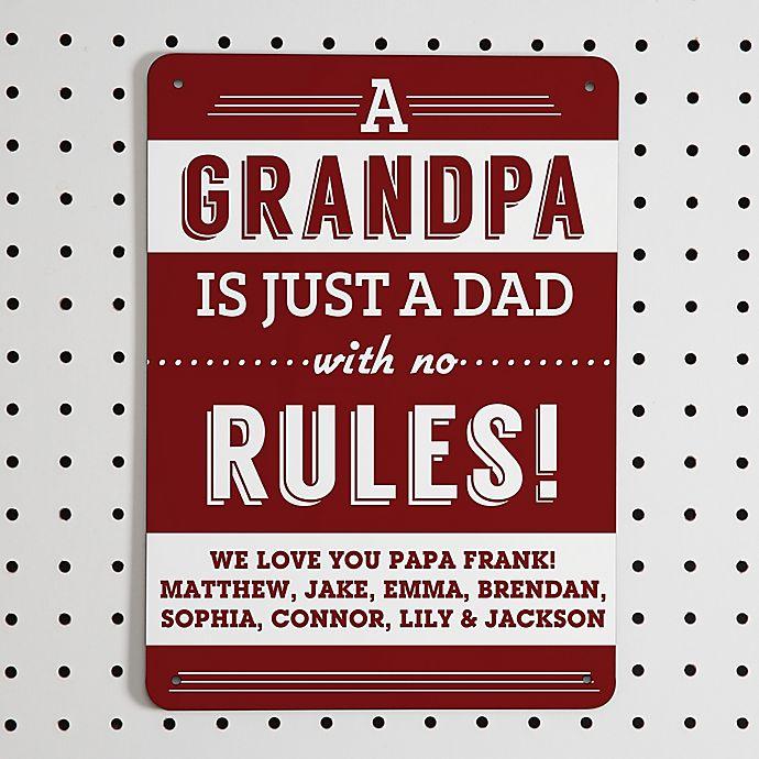 Alternate image 1 for Grandpa's Rules Street Sign
