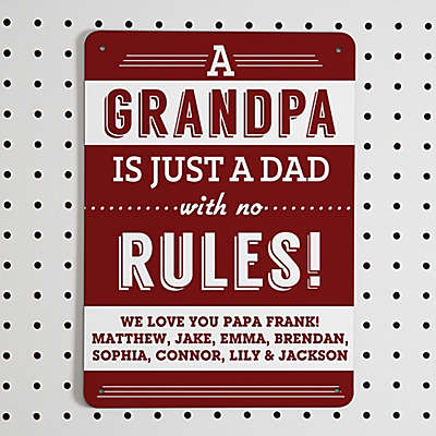 Grandpa's Rules Street Sign