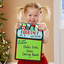 All I Want For Christmas Dry Erase Sign