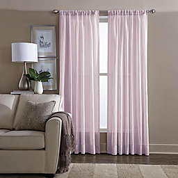 Wamsutta® Sheer 108-Inch Window Curtain Panel in Pink