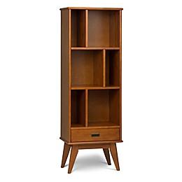Simpli Home™ Draper Mid Century Bookcase in Brown