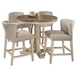 Hillsdale Furniture Clarion 5-Piece Round Dining Set in Sea White/Fog