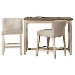 Hillsdale Furniture Clarion 3-Piece Counter-Height Dining Set in Sea White/Fog
