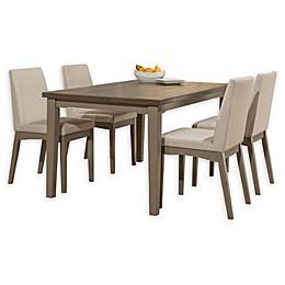 Hillsdale Furniture Clarion 5-Piece Rectangular Dining Set in Distressed Grey/Fog