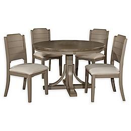 Hillsdale Furniture Clarion 5-Piece Round Dining Set in Distressed Grey/Fog
