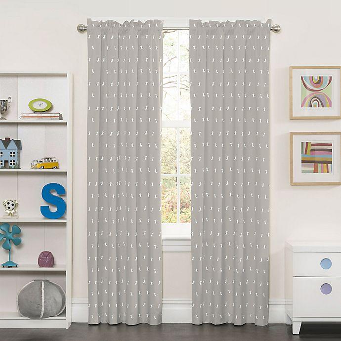 Alternate image 1 for SolarShield® Kids Best Friend 84-Inch Rod Pocket Room-Darkening Window Curtain Panel in Grey