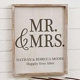 Mr. & Mrs. Barnwood Frame Wall Art