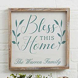 Bless This Home Barnwood Frame Wall Art