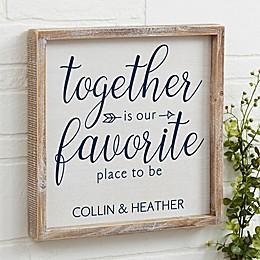 Together Barnwood Frame Wall Art
