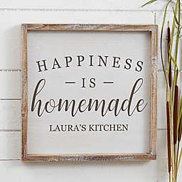Happiness is Homemade Barnwood Frame Wall Art